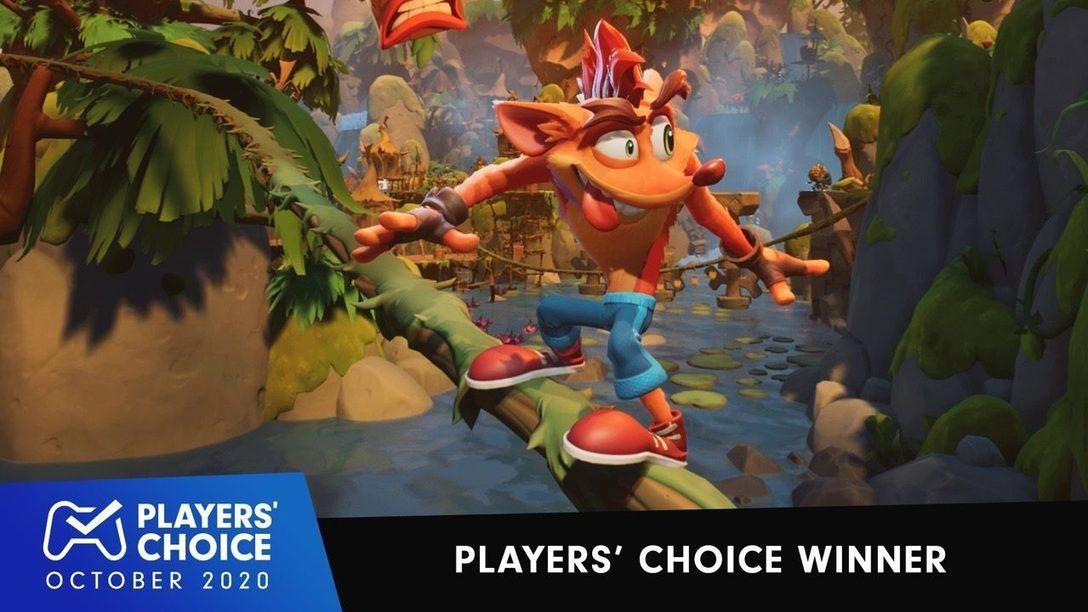 Players' Choice: Crash Bandicoot 4: It's About Time ist das beste neue Game im Oktober