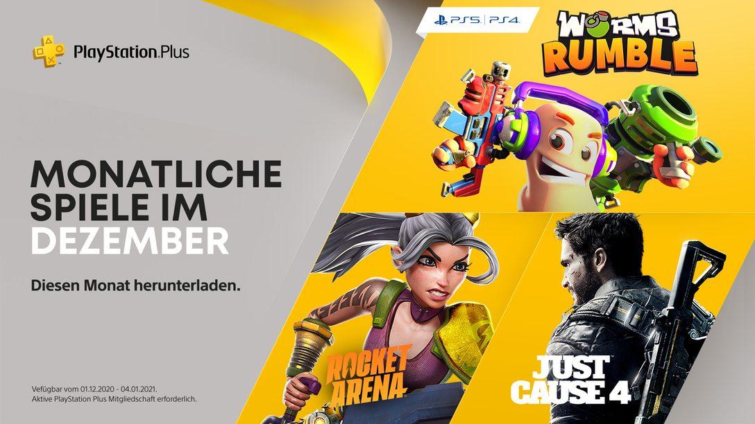 Worms Rumble, Just Cause 4 und Rocket Arena sind eure PlayStation Plus-Spiele für Dezember
