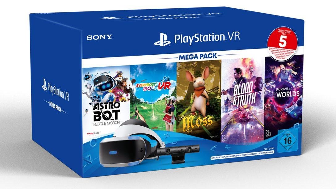 Das PS VR Mega Pack mit 5 tollen Spielen kommt diesen Monat in ganz Europa, Australien und Neuseeland auf den Markt
