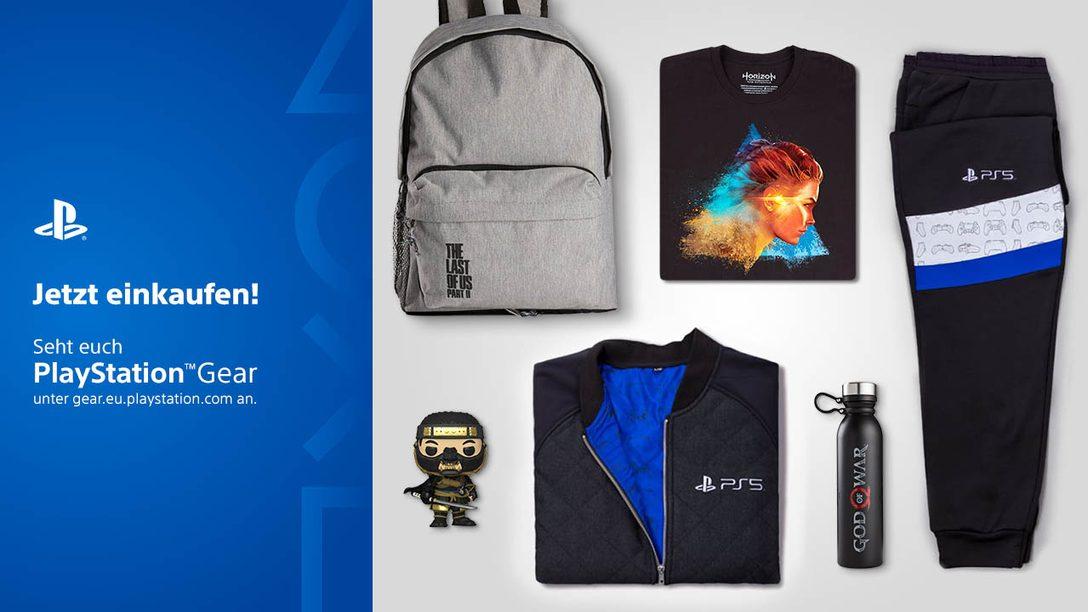 PlayStation Gear Store expandiert in weitere Länder; Ankündigung des neuen Sortiments von Horizon Raw Materials