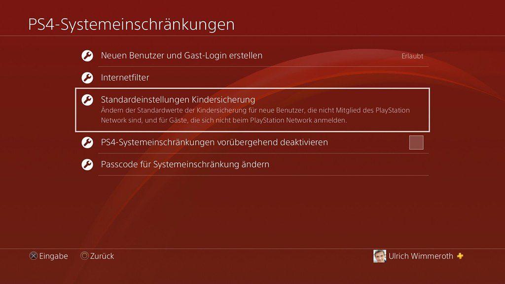 PlayStation 5 - Kindersicherung und Familienverwaltung einrichten