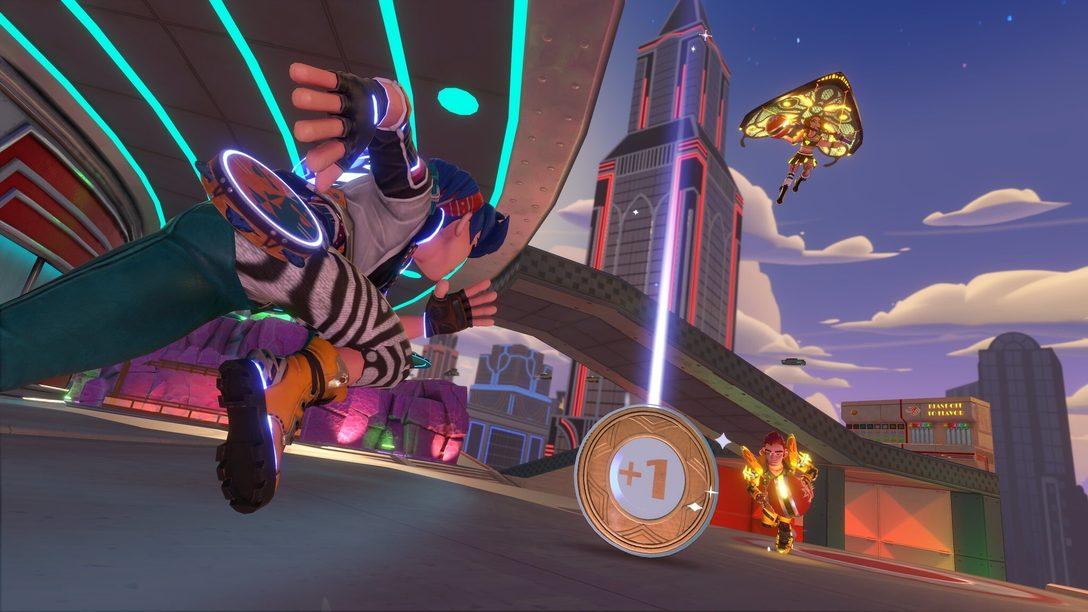 Alle an Bord des Schwebezugs! Das Ziel: die Jukebox-Kreuzung in Knockout City!