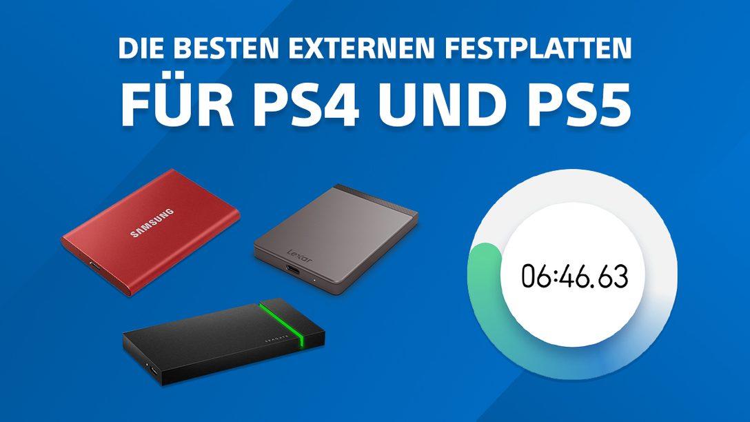 Speicher erweitern: Die besten externen Festplatten für PS4 und PS5