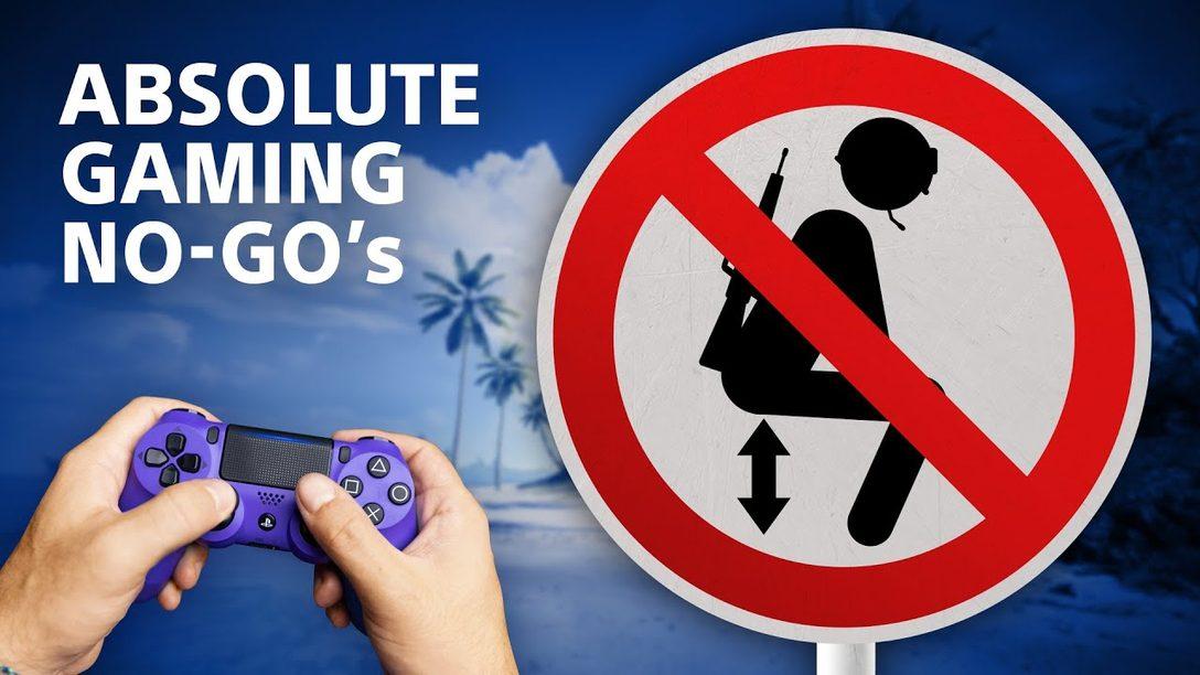 Die größten Gaming No-Go´s