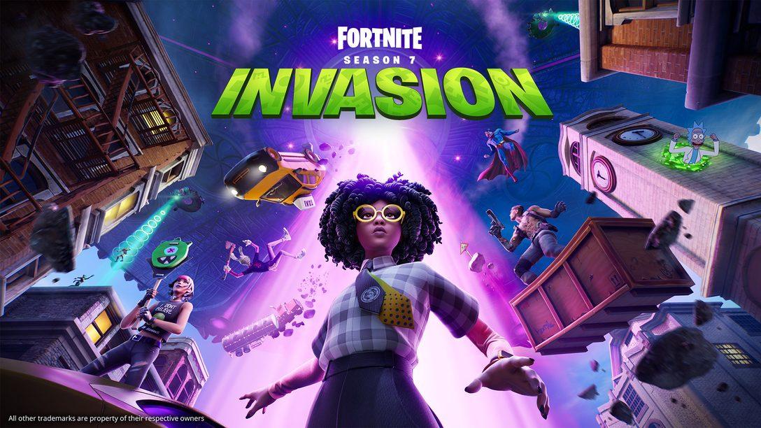 Kämpft euch durch das kosmische Chaos in Fortnite Kapitel 2 – Saison 7: Invasion