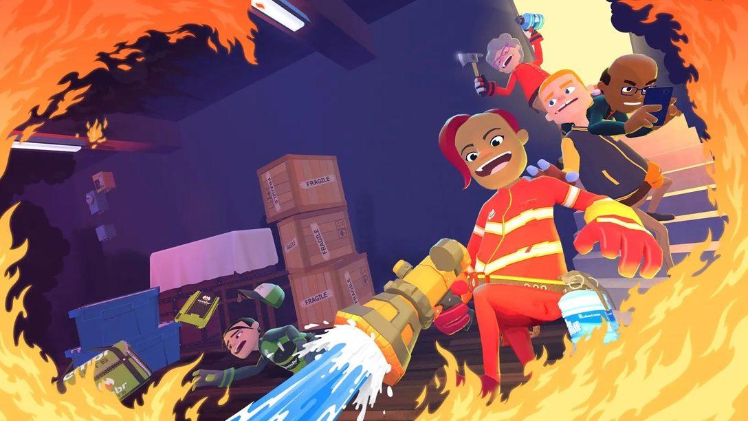 Heuert im rasanten Multiplayer-Spiel Embr als Feuerwehrkaft an