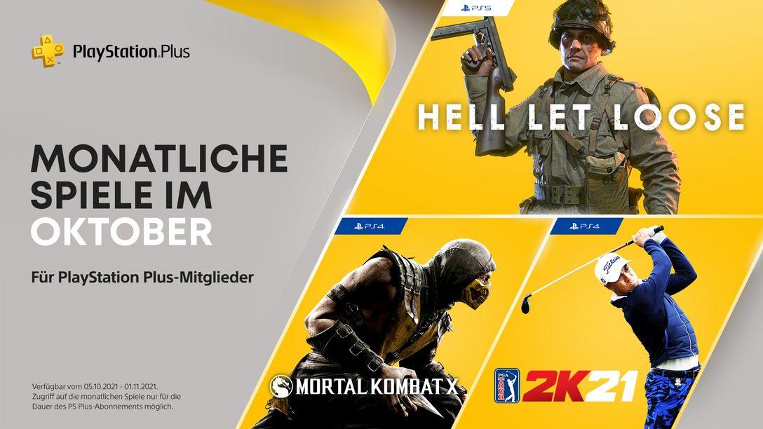 PlayStation Plus-Spiele im Oktober: Hell Let Loose, PGA Tour 2K21, Mortal Kombat X
